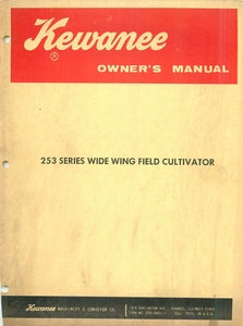 Kewanee 253 Series Wide Wing Field Cultivator Manual