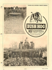 Bush Hog 1437 Standard and Heavy Duty Manual