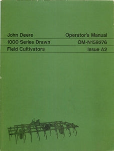 John Deere 1000 Series Field Cultivators Manual