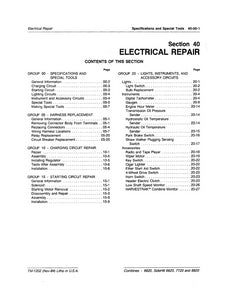 John Deere 6620, 7720, and 8820 Electrical Repair - Technical Manual