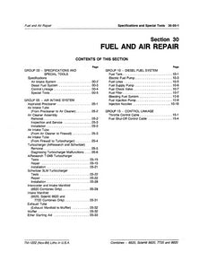 John Deere 6620, 7720, and 8820 Fuel and Air - Technical Manual