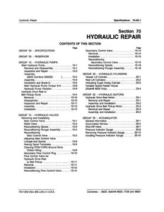 John Deere 6620, 7720, and 8820 Hydraulic Repair - Technical Manual