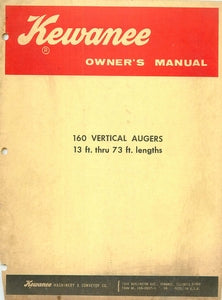 Kewanee 160 Vertical Augers Manual