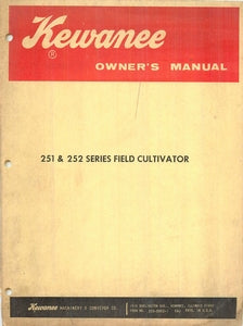 Kewanee 251 and 252 Series Field Cultivators Manual
