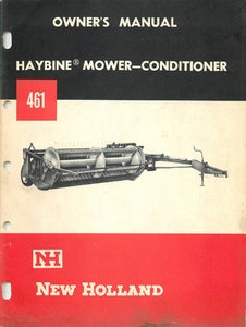 New Holland 461 Haybine Mower-Conditioner Manual