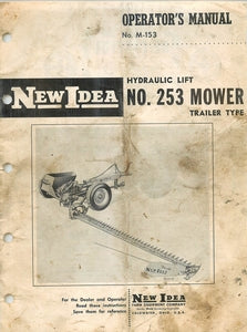 New Idea Hydraulic Lift 253 Mower Manual