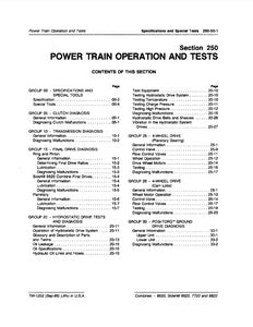 "John Deere 6620, SideHill 6620, 7720 and 8820 Combine ""Power Train Operation and Tests"" - Technical Manual"