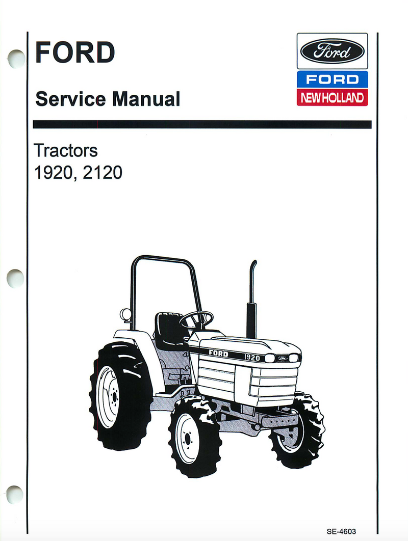 Ford 1920 and 2120 Tractor - COMPLETE Service Manual
