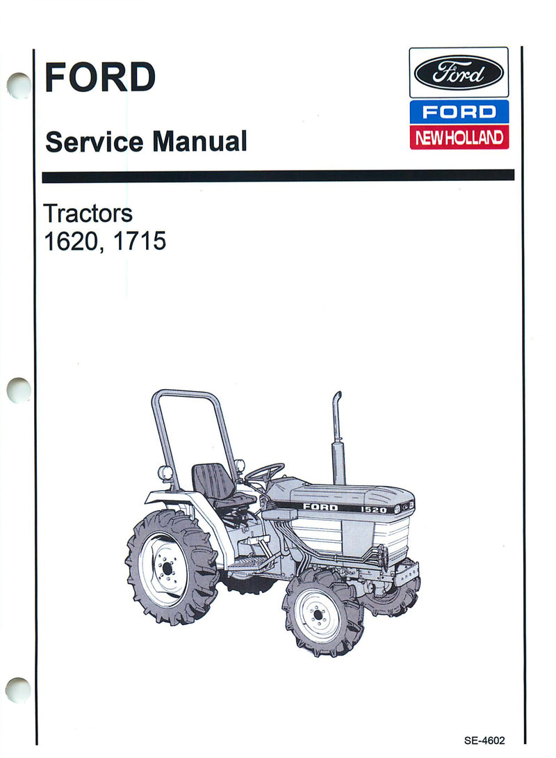 Ford 1620 and 1715 Tractors - COMPLETE Service Manual