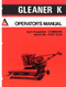 Gleaner K Combine Manual
