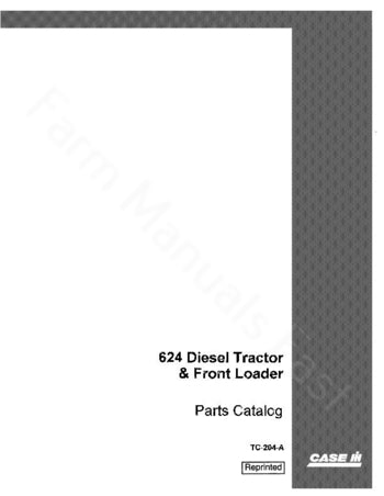 International 624 Tractor - Parts Catalog