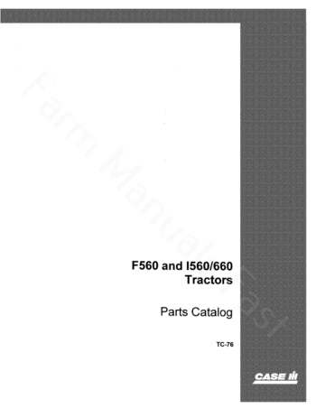 International 560 and 660 Tractor - Parts Catalog