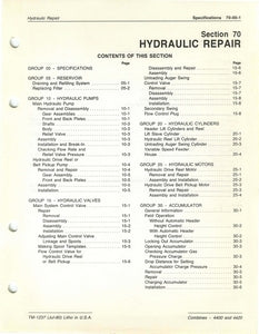"John Deere 4400 and 4420 Combine ""Hydraulic Repair"" - Technical Manual"