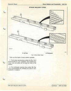 "John Deere 4400 and 4420 Combine ""Separator Repair"" - Technical Manual"