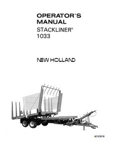 New Holland Stackliner 1033 - Operator's Manual