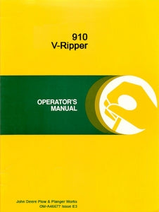 John Deere 910 V-Ripper Operator's Manual