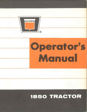 Oliver 1850 Gas and Diesel Tractor Manual