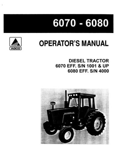 Allis-Chalmers 6060, 6070, and 6080 Tractor Manual