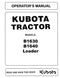 Kubota B1630 and B1640 Loader Attachment Manual