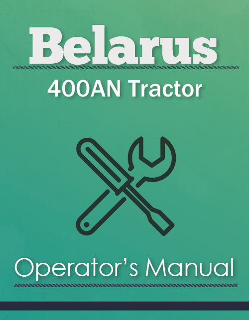 Belarus 400AN Tractor Manual Cover