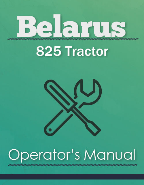 Belarus 825 Tractor Manual Cover