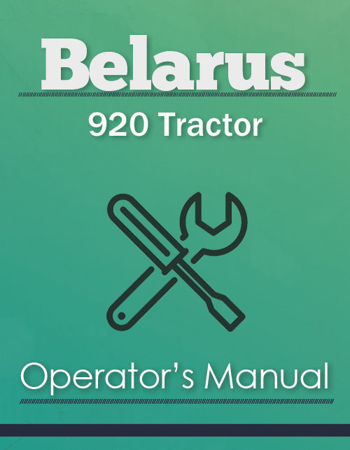 Belarus 920 Tractor Manual Cover