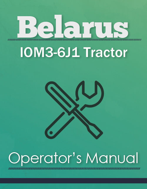 Belarus IOM3-6J1 Tractor Manual Cover