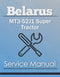 Belarus MT3-52J1 Super Tractor - Service Manual Cover