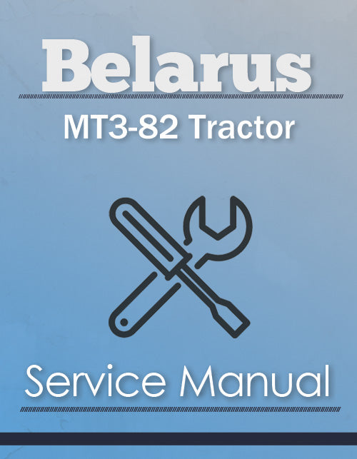 Belarus MT3-82 Tractor - Service Manual Cover