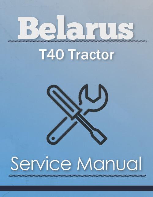 Belarus T40 Tractor - Service Manual Cover