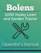 Bolens 1050 Husky Lawn and Garden Tractor Manual Cover