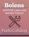 Bolens 1053-02 Lawn and Garden Tractor - Parts Catalog Cover