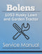 Bolens 1053 Husky Lawn and Garden Tractor - Service Manual Cover
