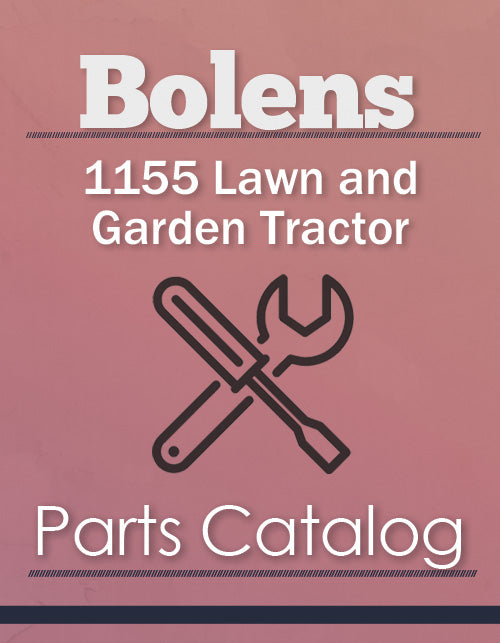 Bolens 1155 Lawn and Garden Tractor - Parts Catalog Cover