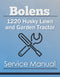 Bolens 1220 Husky Lawn and Garden Tractor - Service Manual Cover