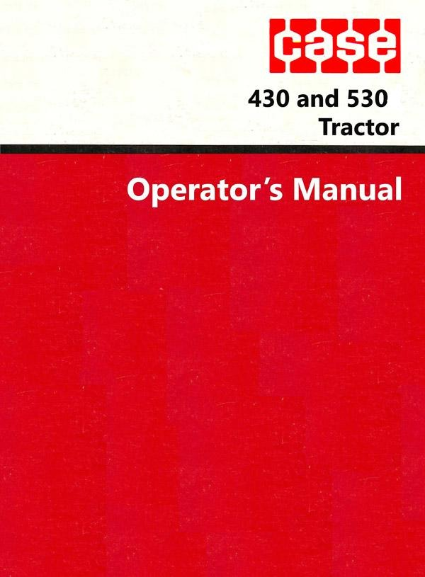Case 430 and 530 Tractors Manual