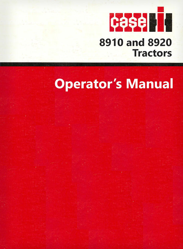 Case IH 8910 and 8920 Tractor Manual