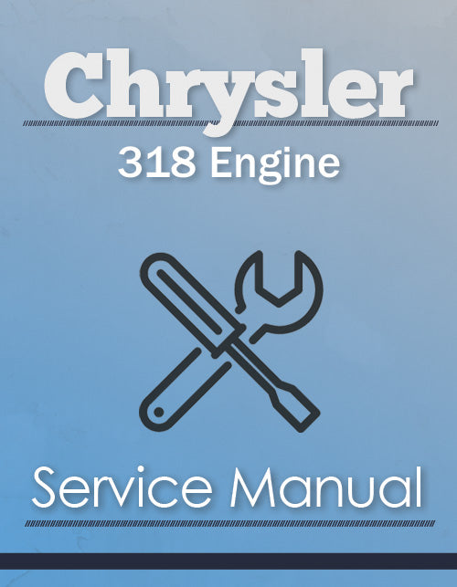 Chrysler 318 Engine - Service Manual Cover