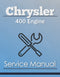 Chrysler 400 Engine - Service Manual Cover