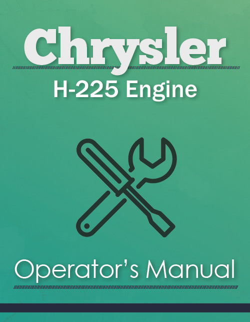 Chrysler H-225 Engine Manual Cover