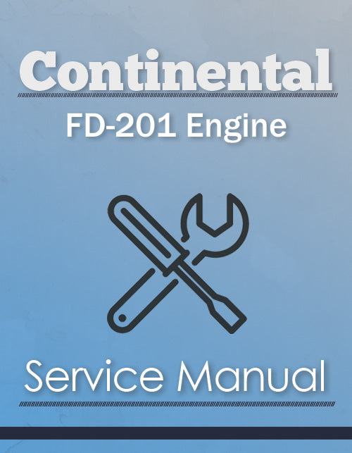 Continental FD-201 Engine - Service Manual Cover