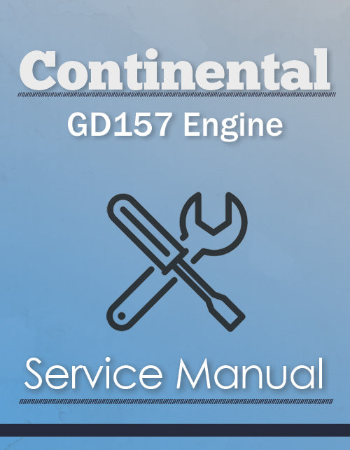 Continental GD157 Engine - Service Manual Cover