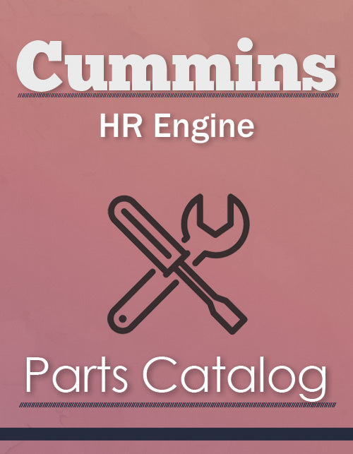 Cummins HR Engine - Parts Catalog Cover