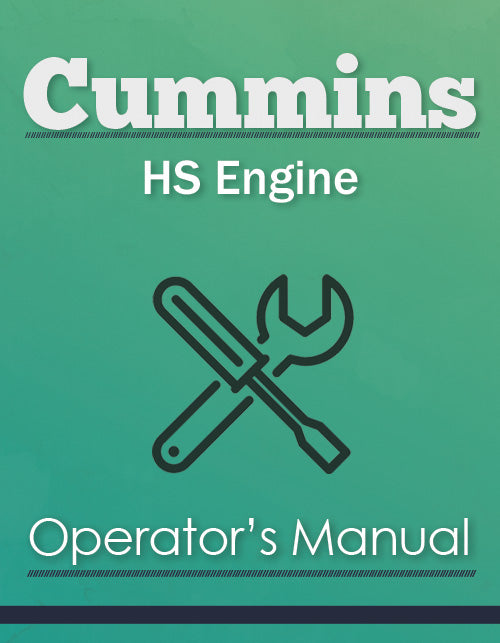 Cummins HS Engine Manual Cover