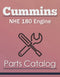Cummins NHE 180 Engine - Parts Catalog Cover