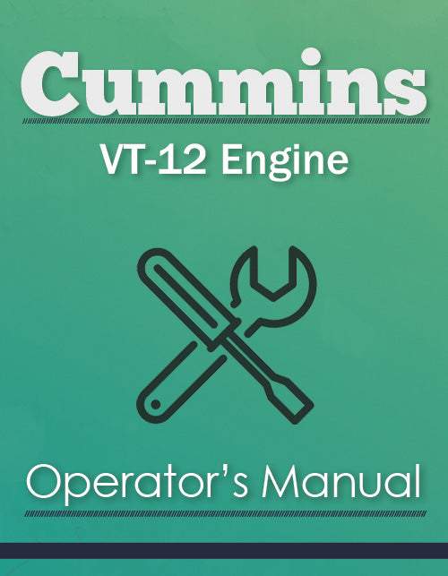 Cummins VT-12 Engine Manual Cover