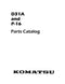 Komatsu D31A and P-16 Crawler - Parts Catalog