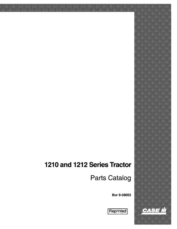 David Brown 1210 and 1212 Tractor - Parts Catalog