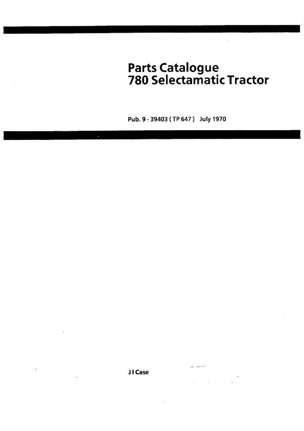 David Brown 780 Tractor - Parts Catalog