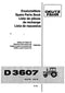 Deutz Fahr D3607 Tractor - Parts Catalog